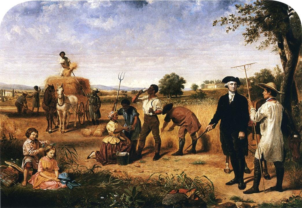 Junius Brutus Stearns   George Washington as Farmer at Mount Vernon How do you explain your brain on drugs to someone whos never tried them? Visually of course.