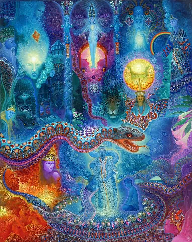 Ayahuasca and Enlightenment2 How do you explain your brain on drugs to someone whos never tried them? Visually of course.