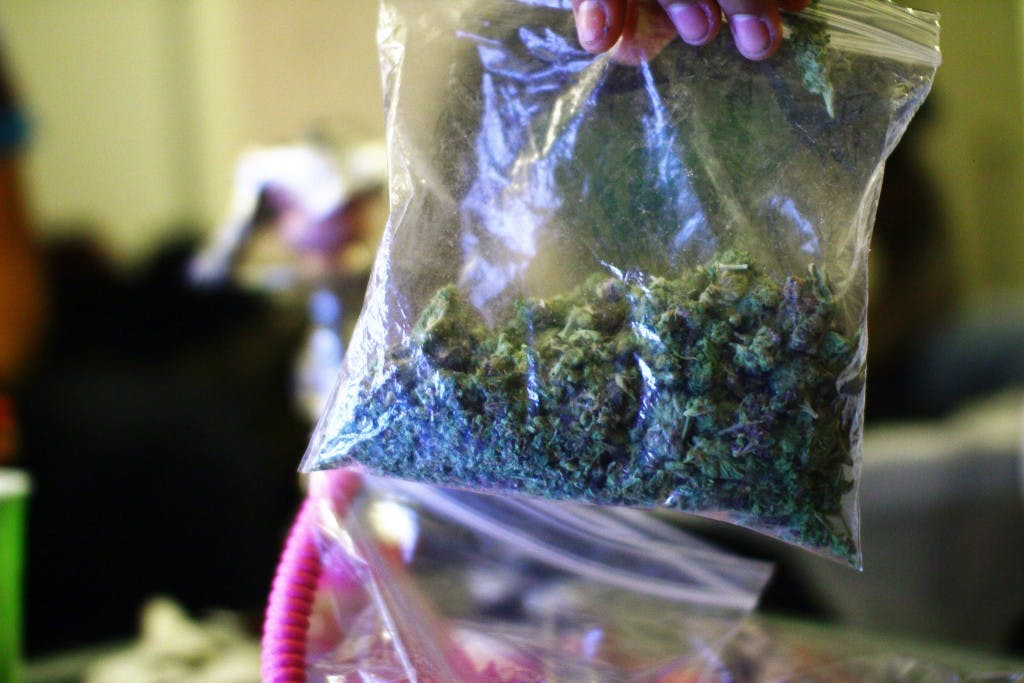 weed bag 1024x683 How do you explain your brain on drugs to someone whos never tried them? Visually of course.
