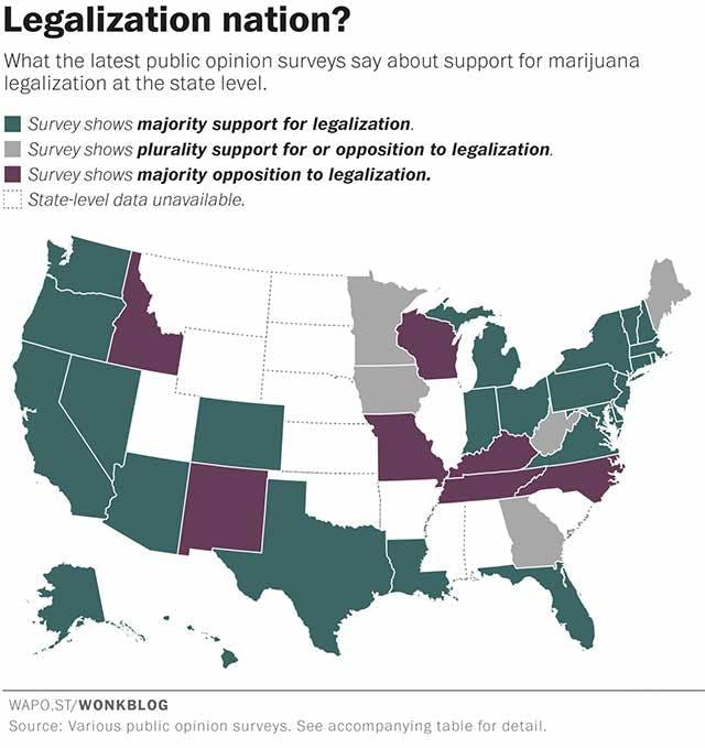 MarijuanaLegalizationMap Delaware and Marijuana: 6 Key Facts
