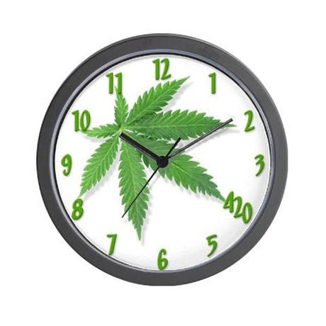 pot leaf wall clock Which Subscription Cannabis Service is Right for You? Potbox vs. Marvina