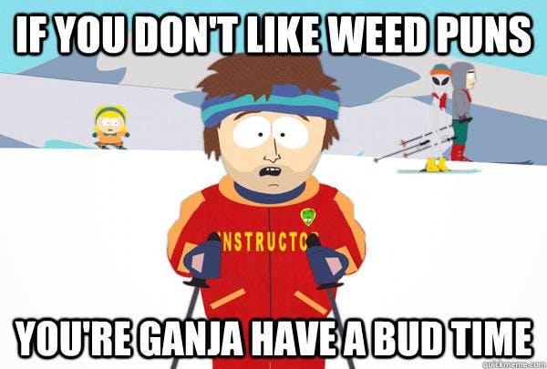 weed puns Super Cool Ski Instructor 600x405 Delaware and Marijuana: 6 Key Facts