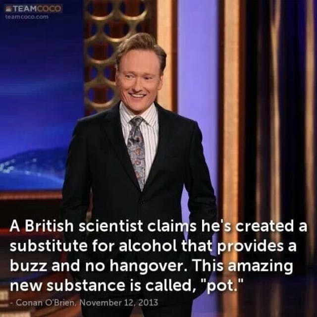 Conan Scientist Stephen Colbert: Welcome To The First Church of Cannabis