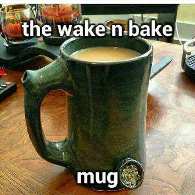 Wake and Bake Mug Stephen Colbert: Welcome To The First Church of Cannabis