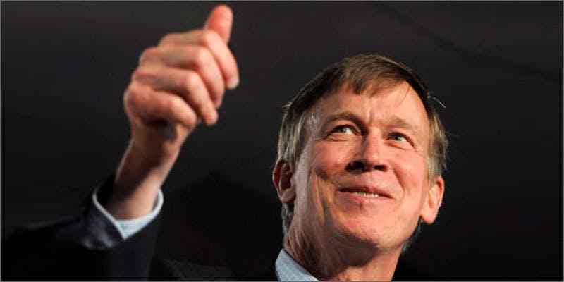 Governor John Hickenlooper approves marijuana