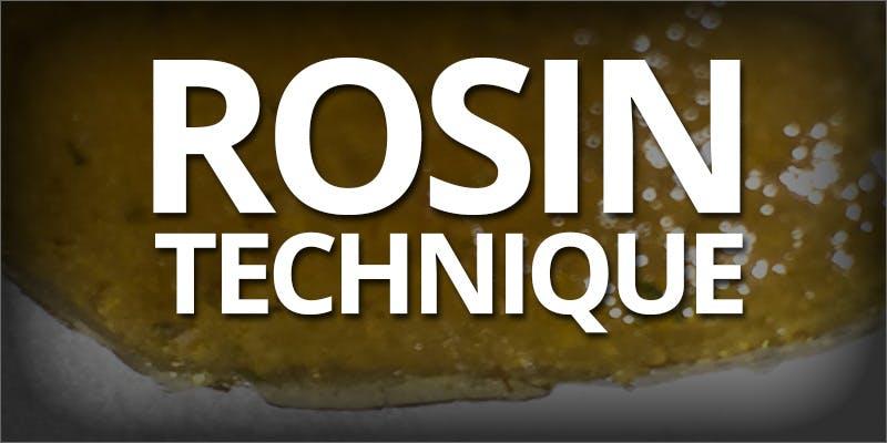 Rosin techniques