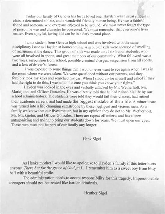 suicide mothers letter Marijuana And Modern Day Religion. Is It A Sin?