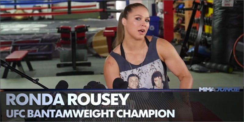 Ronda Rousey Gives The Greatest Analogy of Nick Diaz's 5-Year Marijuana Suspension