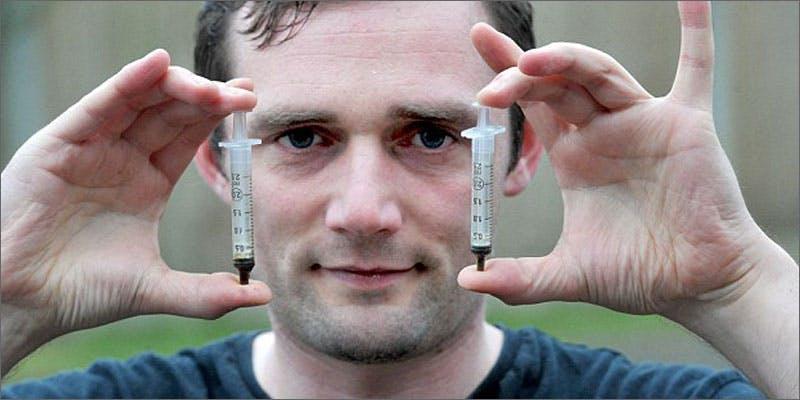 man cures himself using cannabis oil