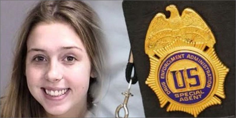 dea daughter girl badge 2 Dumbasses With Weed Get Paranoid And Turn Themselves In