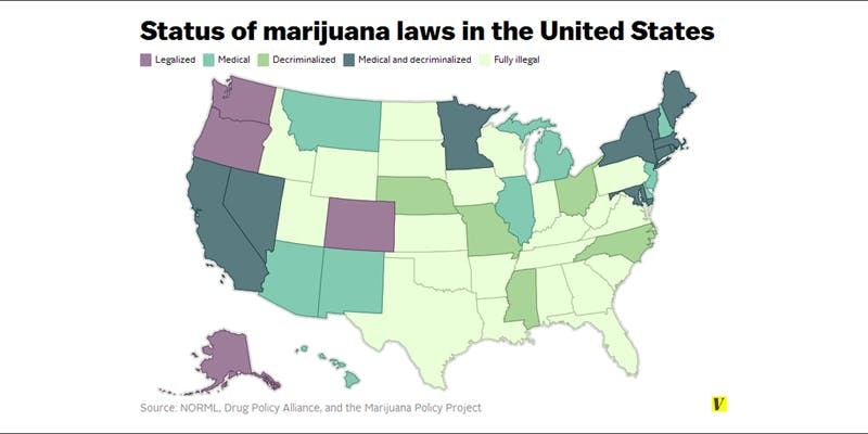 status of us laws 2 Dumbasses With Weed Get Paranoid And Turn Themselves In