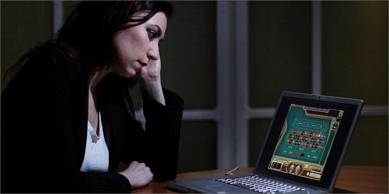 5 gambling addiction woman laptop These People Cried When High And The Reasons Are Hilarious