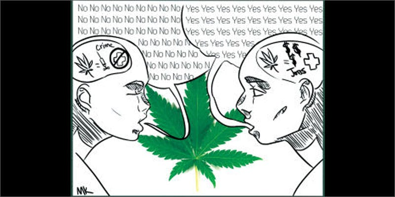 voxpoll legalize drugs illustration Restalk: Recycling Cannabis Waste Into Tree Free Paper Products
