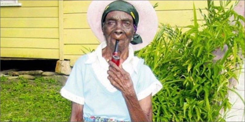95 yearold woman smoking pipe Meet The Jamaican Woman Whos Smoked Marijuana For 85 Years