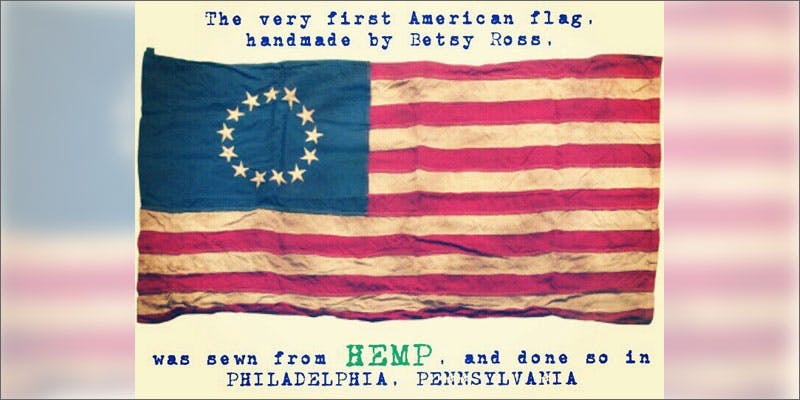 PA hemp cultivation american flag Heres 10 Epic Cannabis Moments Throughout History