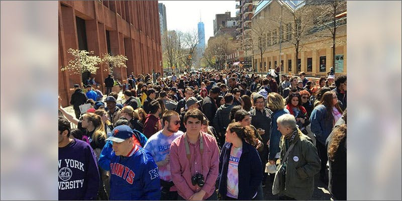 bernie sanders ny rally crowd Heres 10 Epic Cannabis Moments Throughout History