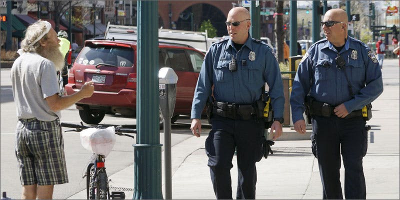 police ask law break patrolling sidewalk The Latest Cause For Concern With Colorado Cops