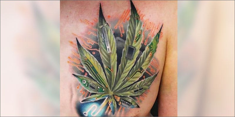 weed tattoos cyber leaf You Need To Read Gooeys New Book About Medical Cannabis