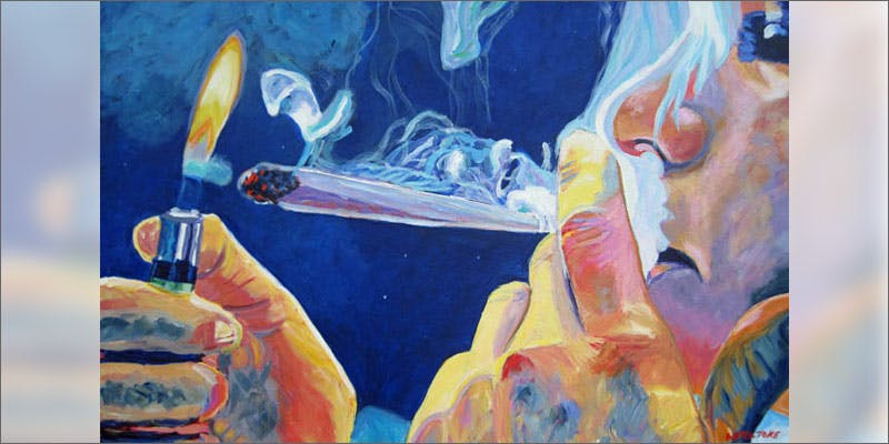 smoke more weed painting A Touch Of Glass #25: Ladys Choice