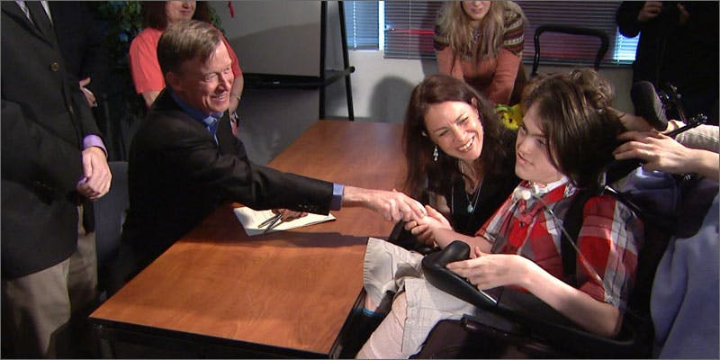 1 colorado teen jack splitt handshake Michigan Govenor Takes Initiative With State Medical Progam
