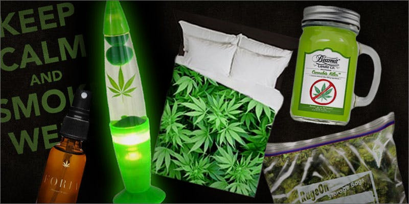weed-themed bedroom