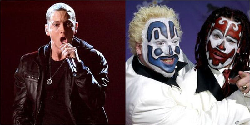 6 biggest hip hop feuds in history eminem insane clown This Dominos Driver Delivered More Than Just Pizza