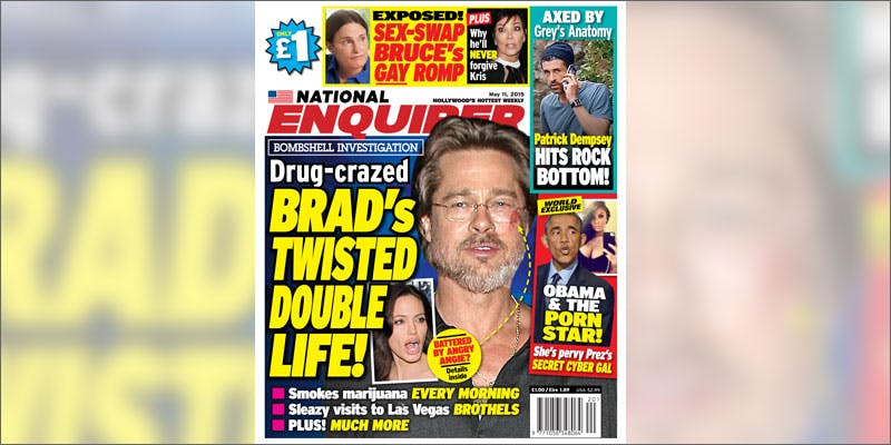 7 brad pitt angelina jolie weed divorce magazine cover This Dominos Driver Delivered More Than Just Pizza