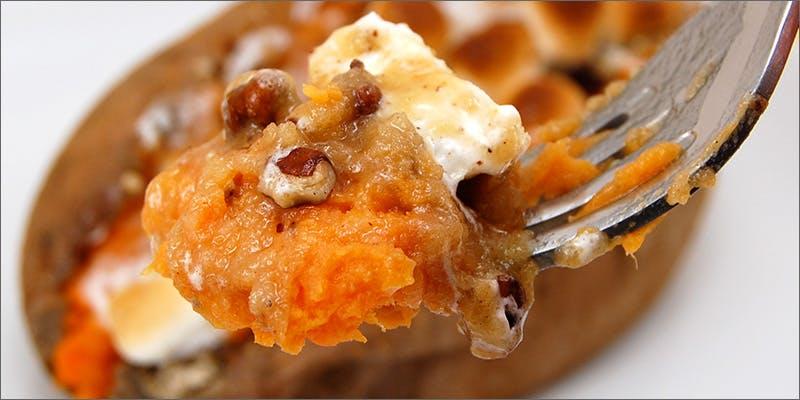 Streusel Stuffed Sweet Potatoes