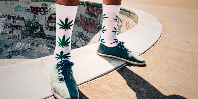 Weed Print Socks