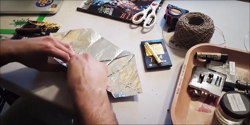 origami ashtray