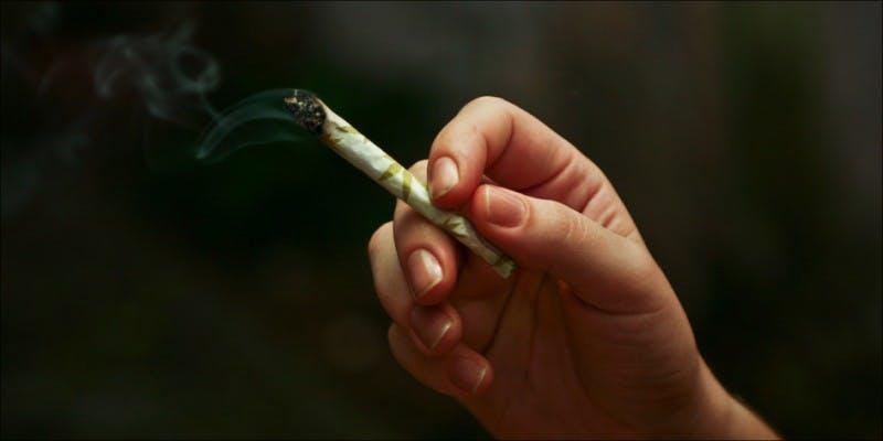 smokes weed