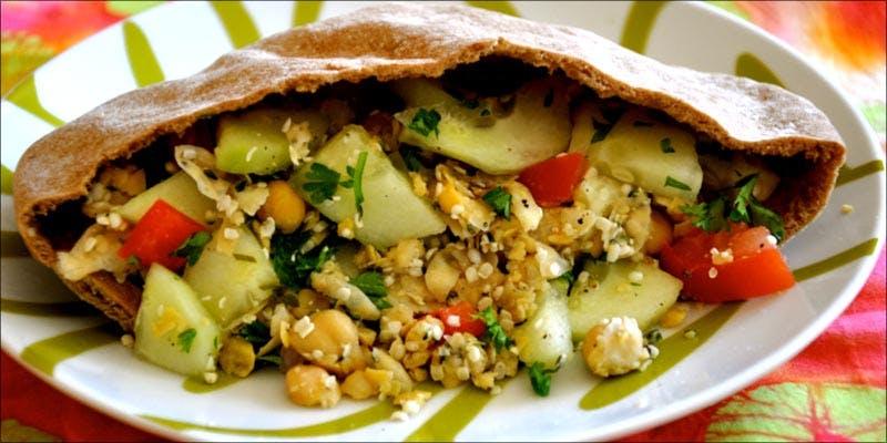 Hummus And Hemp Seeds Pita Pocket