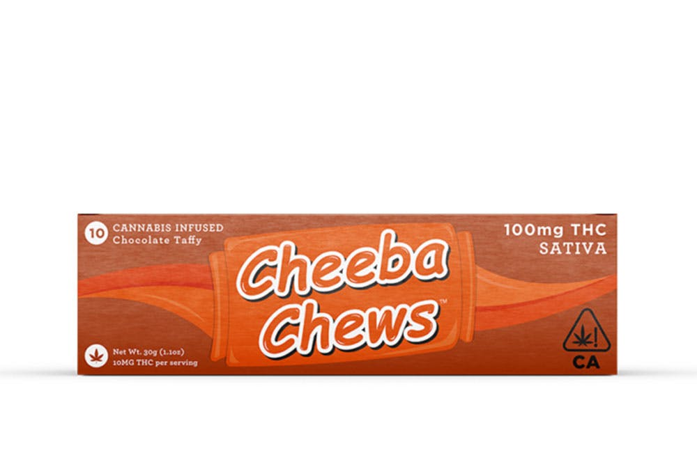 Product shot of Cheeba Chews which is one of the strongest cannabis products on the planet.