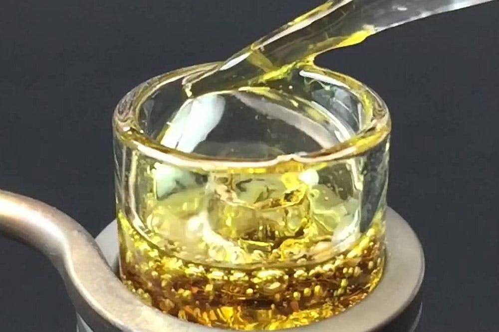 The Clear Concentrate Dab which is one of the strongest marijuana products in the world.