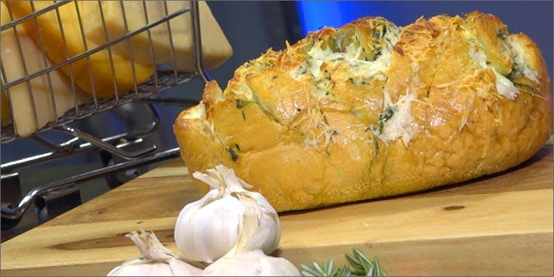 Cheese Stuffed Garlic Bread