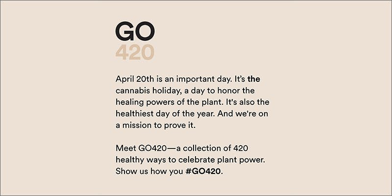 """go420hero hmbldt Declares 420 """"The Healthiest Day Of The Year"""" With GO420"""