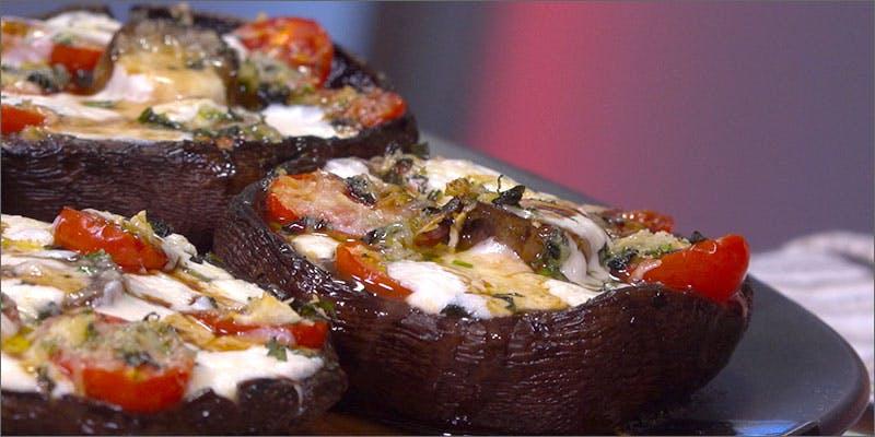 Mozzarella Mushroom Caps Caprese