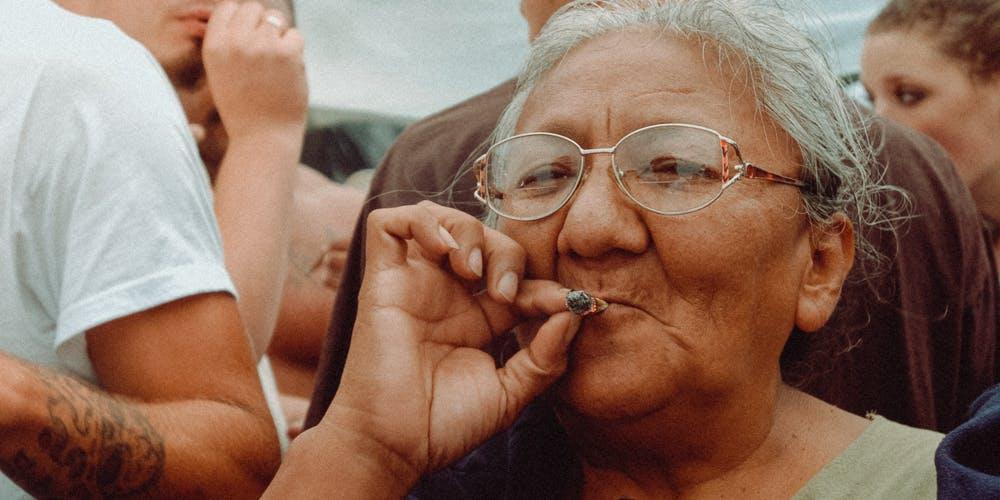 Sue Taylor Senior Citizens High Weed Marijuana Grandmother Grandfather Joint Smoke