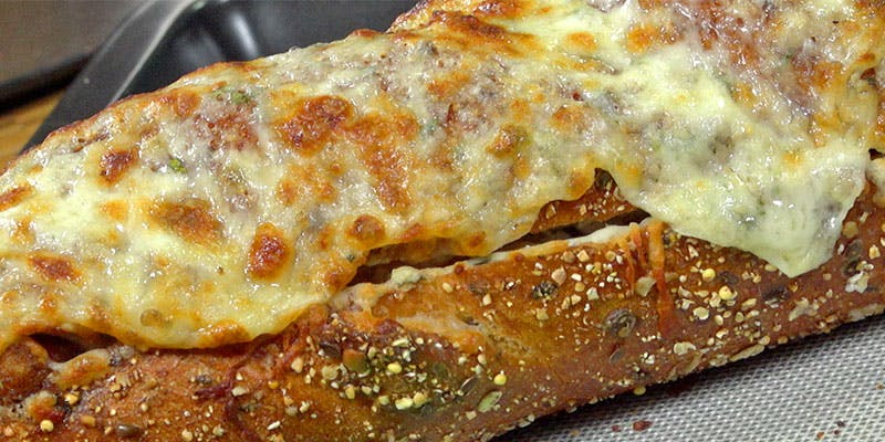 Chicken Parm Stuffed Garlic Bread
