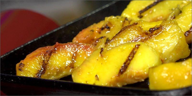Grilled Peach Cobbler