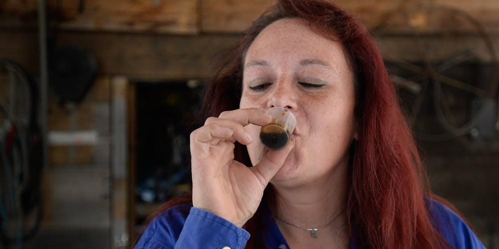 Michelle Ham uses a cannabis tincture to help cope with pain
