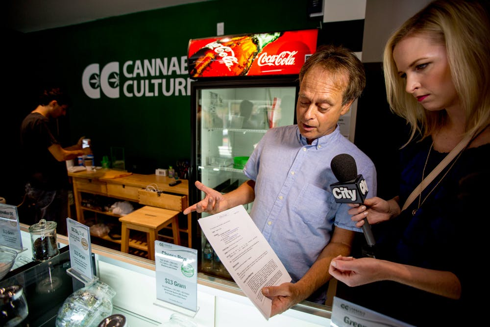 Marc Emery speaks to reporter about how dispensaries are fighting to stay open