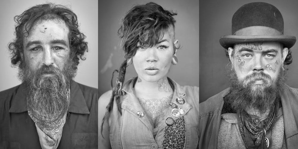 The faces of an infamous, nomadic, punk subculture