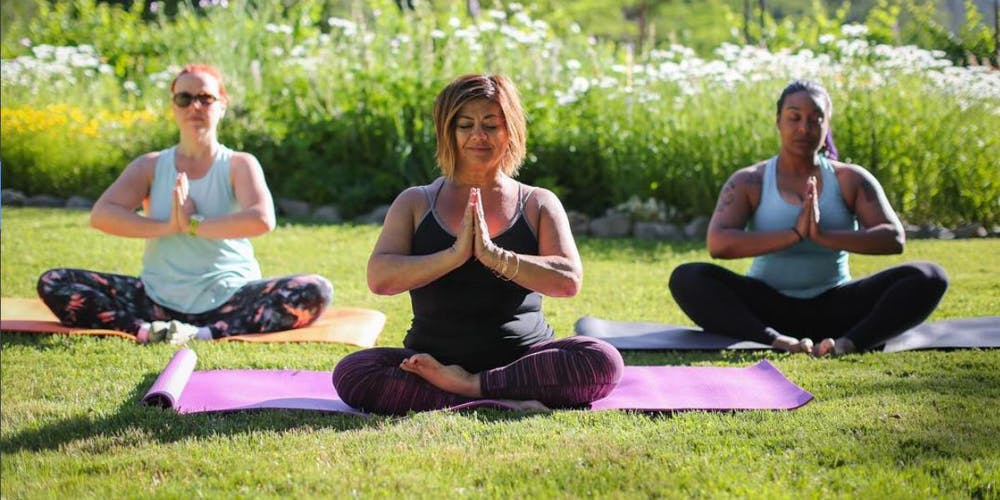 Smoking weed and doing yoga at The Inclusive Women's Weed Camp