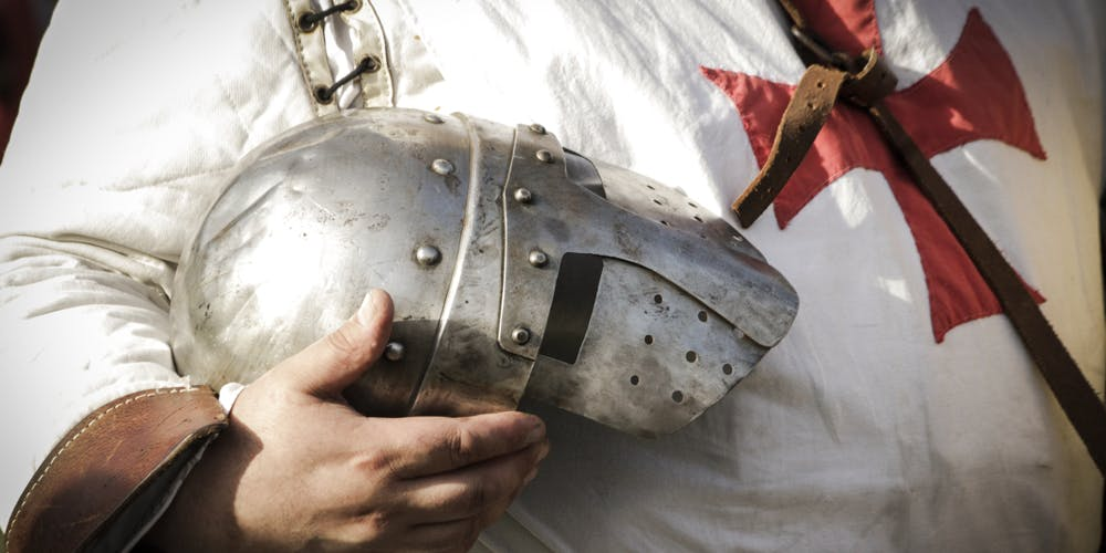 emplar knight wearing a helmet with visor