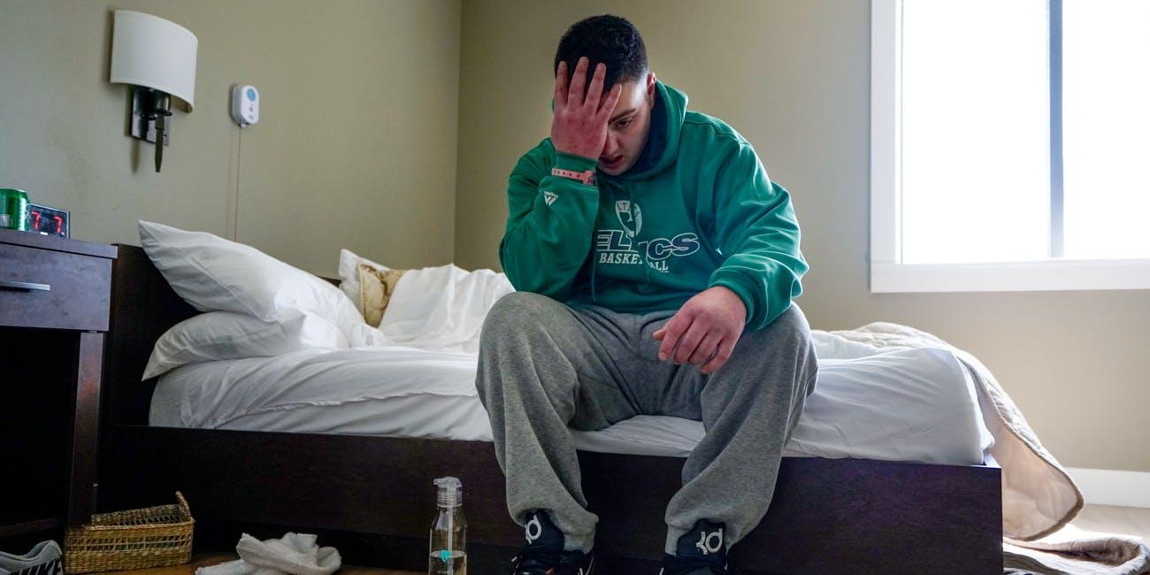 Man looking depressed in Heroin treatment