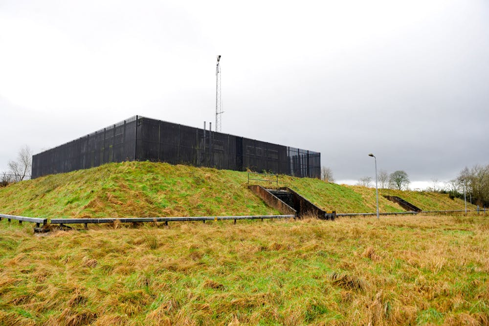 A former regional government nuclear bunker stands in Ballymena, U.K., on Thursday, Feb. 4, 2016. The property that was opened in 1990 and designed to accommodate over 200 people is being marketed by Lambert Smith Hampton Ltd..