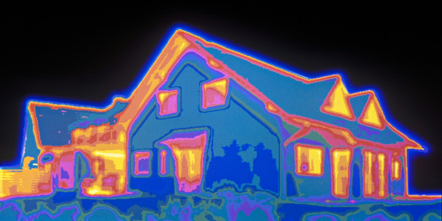Thermal Vision Image of marijuana grow op