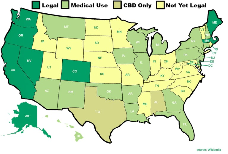 Where Is Marijuana Legal In The U.S.A.? The Definitive Guide To Weed ...