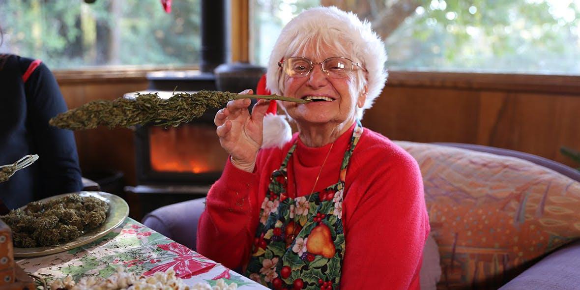 94 year old woman with Marijuana Egg Nug